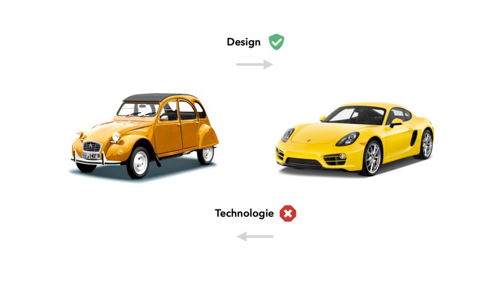 ux design: design Vs technologie
